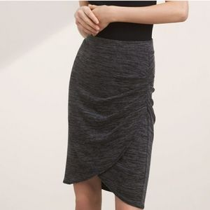 NWOT RW&CO Black/Heather Gray Ruched Skirt XXS